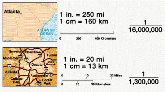 What Is Map Scale Math Dictionary: Scale (map)